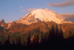 Mountain 05. Eastern face of Mount Rainier, Chinook Pass, Washington, USA royalty free stock photography