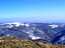Mountain.......(1). Here are some mountains in Romanian full of snow and trees Stock Photos