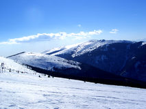 Mountain........(10). Here are some Romanian mountains in the winter 2005. They are full of snow Stock Photography