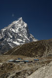 Mountain. Landscape. Sagarmatha National Park, Nepal Royalty Free Stock Photo