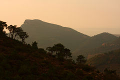 Mountain. Sunset over spanish mountains near Valencia Royalty Free Stock Photography