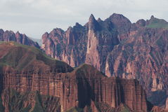 Mountain. A shot of typical Danxia Topography mountains in west China Stock Photo