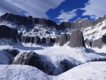Mountain. Snow-bound tops of unknown mountain Stock Image