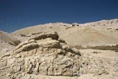 Mountain. S and big stone. (Croatia Pag Royalty Free Stock Photos