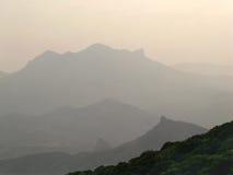 Mountain. Morning panorama with haze Royalty Free Stock Photo
