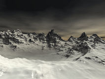 Mountain. Digital visualization of a mountain Royalty Free Stock Image