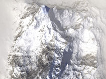 Mountain. Digital visualization of a mountain Stock Images
