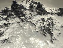 Mountain. Digital visualization of a mountain Stock Photos