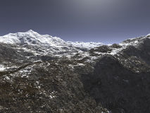 Mountain. Digital visualization of a mountain Stock Photography