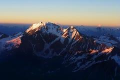 Mountain. Elbrus  snow cold sky glacier  seven Royalty Free Stock Photography
