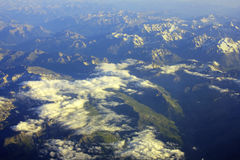 Mountain. Aerial view of a mountain range Royalty Free Stock Photography