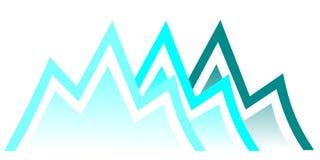Mountain. Illustration of mountain. Mountain symbol Royalty Free Stock Image