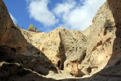 Mountain. And caves near monastery Takla in Maalula, Syria Stock Images