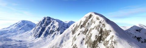 Mountain. Peaks of the snowy mountain Stock Photo