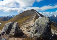 Mountain and 2 stones Royalty Free Stock Photos