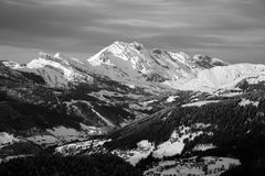Mountain. Black and white mountain landscape Stock Photo