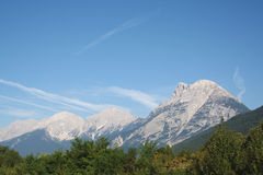 Mountain. View to the Alps mountains Royalty Free Stock Photography