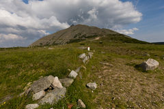 The mountain. Highest mountain in Sudety in Poland Stock Image