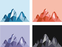 Mountain vector. Illustration of geometric mountain in different color tones + vector eps file Stock Photo