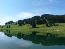 Mountain湖 库存照片