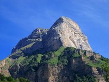 The mountain. The Dent de Crolles in the Chartreuse Mountains, france royalty free stock image