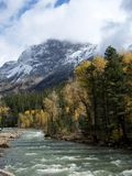 Mountain. Snowy mountain and river taken in the fall near Durango, Colorado Stock Images