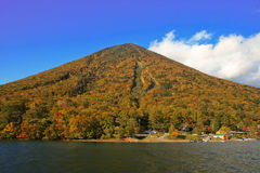 Mountain. A photograph of Mt. Nantai in Nikko, Japan during mid-autumn Royalty Free Stock Image