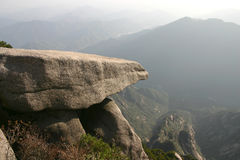 Mountain. The cliff of the mountain in china Stock Photography
