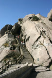 Mountain. The high mountain in china ,people climb the mountian by the little path Royalty Free Stock Photo
