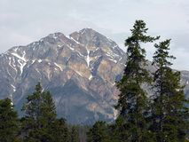 Mountain. A mountain in the rocky mountain range Royalty Free Stock Image