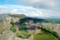 Mountain. Sky, clouds and mountain, shot at mount Changbai in jilin province, China Royalty Free Stock Photography
