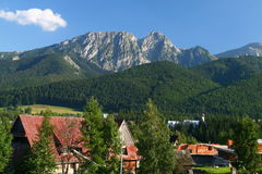 Mountain. The sleeping knight mountain in Zakopane is famous throughout Poland and is a popular tourist resort stock images