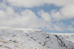 Mountain. Top with snow Stock Photos