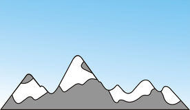 Mountain. Covered by snow Royalty Free Illustration
