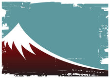Mountain. Grunge vector illustration of a mountain Royalty Free Stock Images