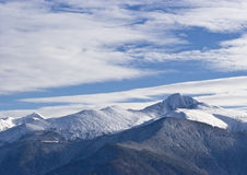 Mountain. Peak covered in snow Stock Images