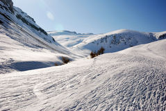 Mountain. Off piste skiing in limone piemonte Royalty Free Stock Photo