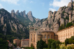 Mountain abbey of Montserrat Royalty Free Stock Images