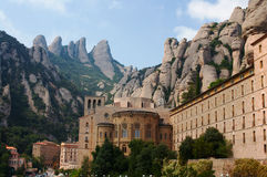 Mountain abbey of Montserrat Stock Images