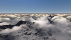 Mountain above the clouds Stock Image
