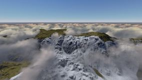 Mountain above the clouds Royalty Free Stock Photos