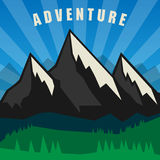 Mountain adventure background Stock Photos