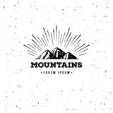 Mountain adventure emblem Royalty Free Stock Image