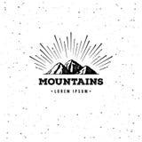 Mountain adventure emblem Royalty Free Stock Image