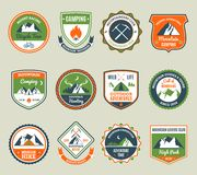 Mountain Adventure Emblems Royalty Free Stock Images