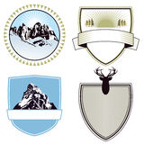 Mountain adventure and expedition badges Royalty Free Stock Images