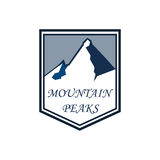 Mountain adventure and expedition logo badges collections. Travel emblems vector Royalty Free Stock Photography