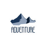 Mountain adventure and expedition logo badges collections. Travel emblems vector Stock Image