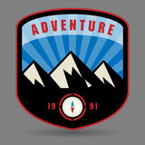 Mountain adventure label Royalty Free Stock Photography