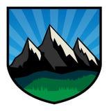 Mountain adventure label Royalty Free Stock Photos
